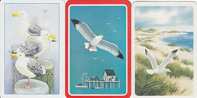 Vintage Swap/Playing Cards- 3 SINGLE - SEAGULL MIX