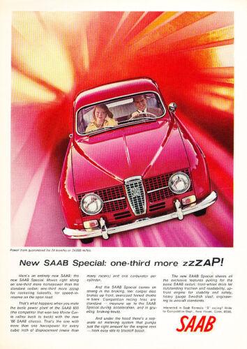 1966 Saab 850 Red ZZZAP Classic Vintage Advertisement Y17
