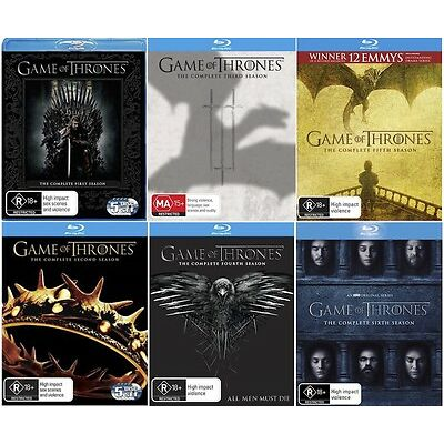Game Of Thrones - Seasons 1 2 3 4 5 6 : NEW Blu-Ray