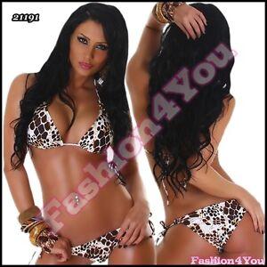 Sexy-Ladies-Leo-Bikini-Set-Womens-Push-Up-Swimsuit-Size-8-10-10-12-12-14-UK
