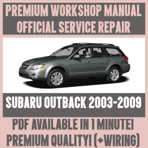 workshop manual service repair guide for subaru outback 2003 2009 rh ebay co uk 2009 subaru outback factory service manual 2009 subaru outback sport owners manual