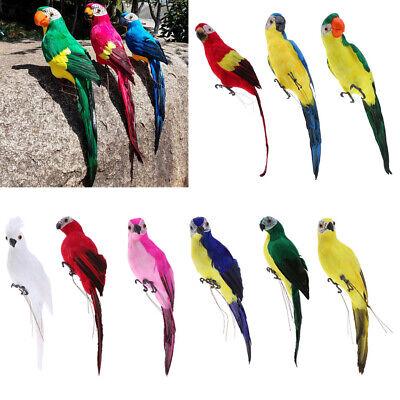 Realistic Foam Parrot Artificial Feathered Bird Animal Decor Green Craft