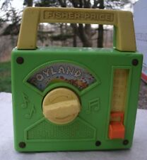 Fisher Price Musical Radio Toy,plays Toyland,vintage '60s,wind up,moving picture