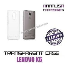 COVER TRASPARENTE PER LENOVO K6 CUSTODIA SILICONE TPU TRANSPARENT CASE 0,3mm