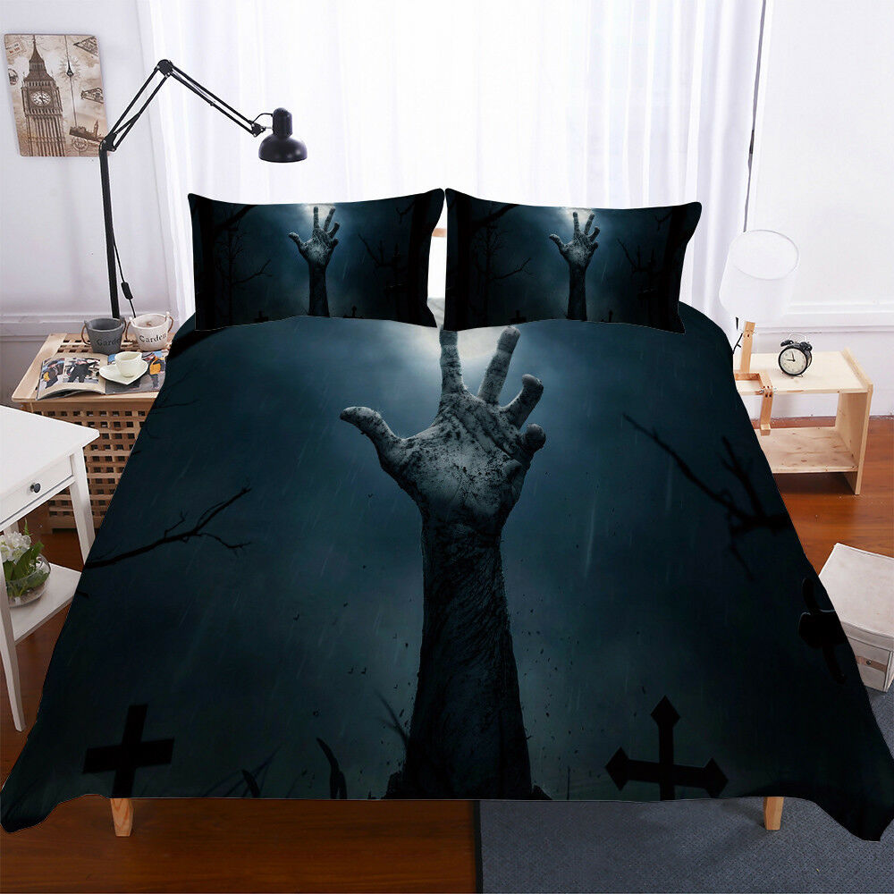 3D Halloween Grim Reaper Hand Bedding Set Duvet Cover Quilt Cover Pillowcases