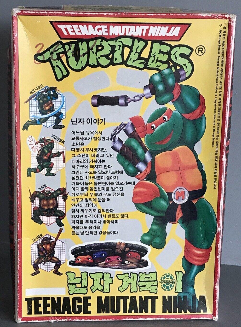 punto de venta de la marca Vintage megacept Teenage Mutant Mutant Mutant Ninja Turtles 1990 Coreana Modelo Kit súper Raro Oficial KO botaleg pegado  ventas calientes