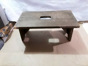 Prime Details About Vintage 4 Leg Wooden Milking Stool Old Farmhouse Pdpeps Interior Chair Design Pdpepsorg