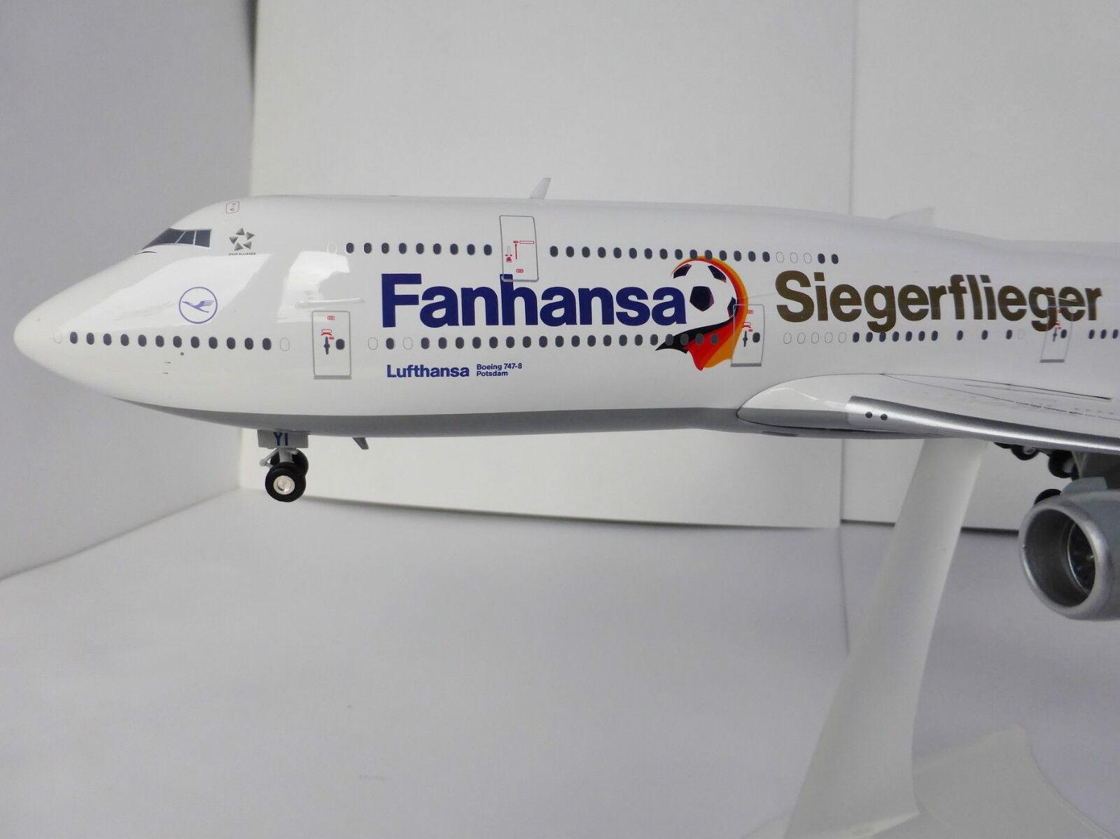 Vincitore aviatori fanhansa Boeing 747-8 Lufthansa 1/200 Herpa 556767 747 WM