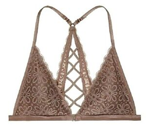 b8bbe2ab994 Image is loading NWT-Victorias-Secret-Lace-Front-Close-Bralette-Strappy-