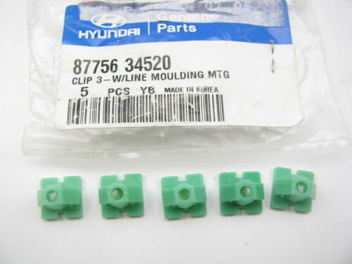 NEW Waist Line Moulding Mounting Retainer Clips OEM For Hyundai 8775634520 5