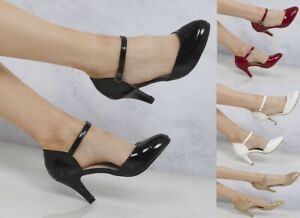 NEW-WOMEN-LOW-HEEL-ANKLE-STRAP-MARY-JANE-ROUND-TOE-CASUAL-SHOES-345678