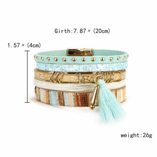 La mode multi couches Femmes Bracelets Natural Crystal stone casual Chaîne Bijoux
