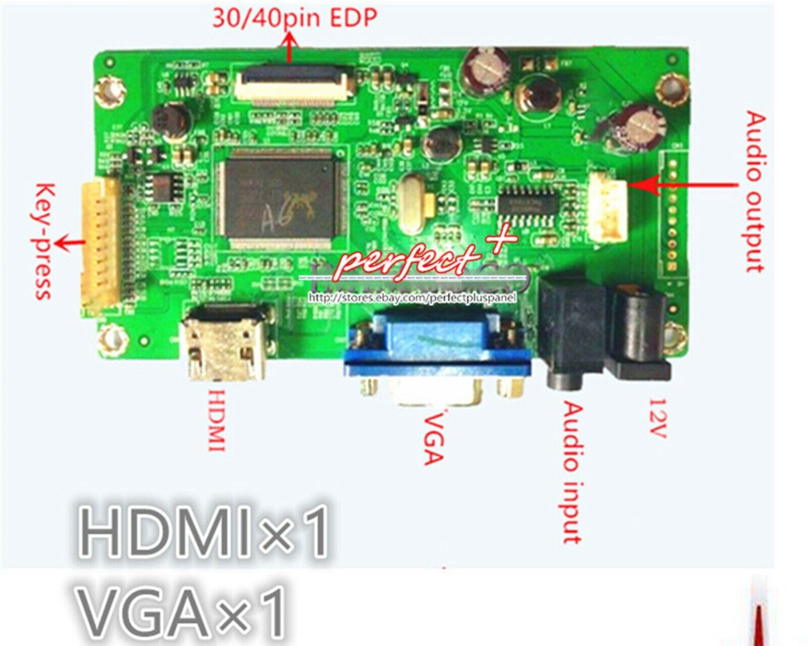HDMI+DVI+VGA TL N1 LED LCD Controller Board Monitor kit for 1366X768 LP140WH2