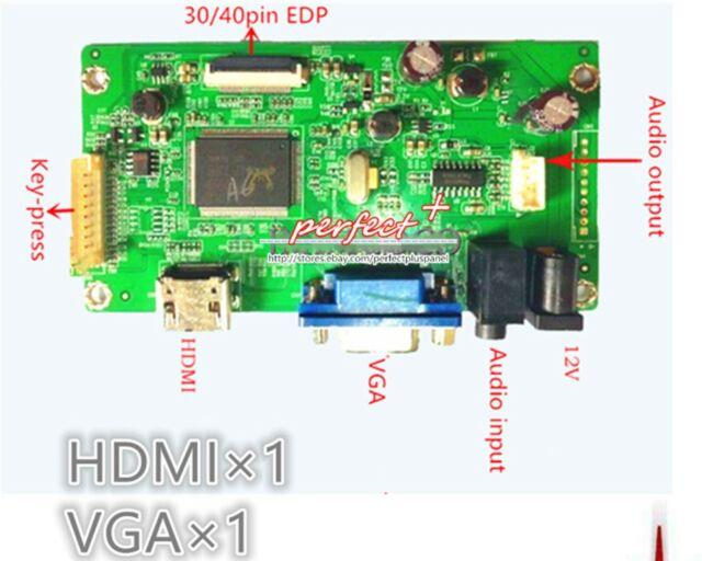 HDMI+DVI+VGA LCD Controller Board Driver for LP140WD1-TLM1 LP140WD1 TL M1 New