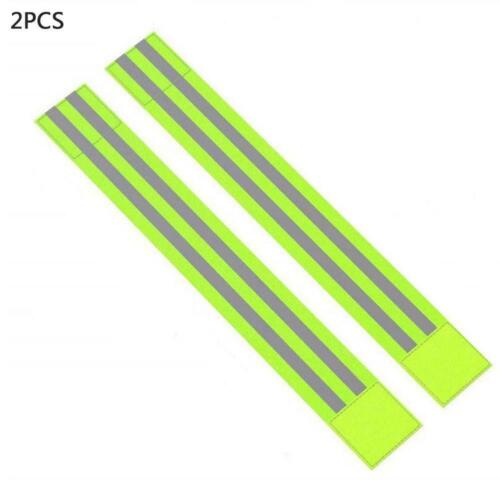 2x Bike Bicycle Reflective Safety Bands Legs//Arms Strap X4C2 Running M0T1 D0O1