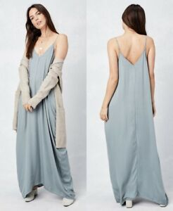 fddbfe32b61 LOVE STITCH Sage Bliss Mila Cocoon Maxi Dress w  Pockets Boho ...