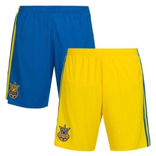 Pantalón corto Adidas Shorts de Ucrania, Equipo nacional masculino S M L XL 2XL 3XL