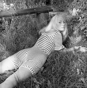 1960s John Castano Negative, sexy blonde pin-up girl with