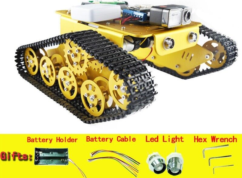 DIY WiFi RC Video Robot T300 Tank NodeMCU ESP8266 Kit Camera by Android ios APP