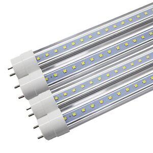 25X-4-FT-18W-T8-LED-Tube-Light-Lamp-G13-Bulbs-Single-End-Power-6000K-CLEAR-LENS