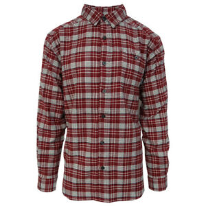 Columbia-Men-039-s-Apple-Red-Cornell-Woods-L-S-Flannel-Retail-60