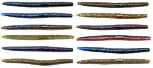 Gambler Ace 5 1//4 inch Soft Stickbait 8pk Bass Fishing Soft Plastic Stickworm