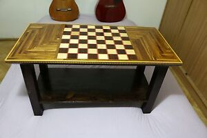Brilliant Details About Coffee Table Chess Model Handmade Gmtry Best Dining Table And Chair Ideas Images Gmtryco