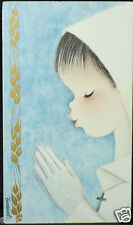 OLD FIRST COMMUNION REMEMBRANCE HOLY CARD ANDACHTSBILD SANTINI SEE MY SHOP C695