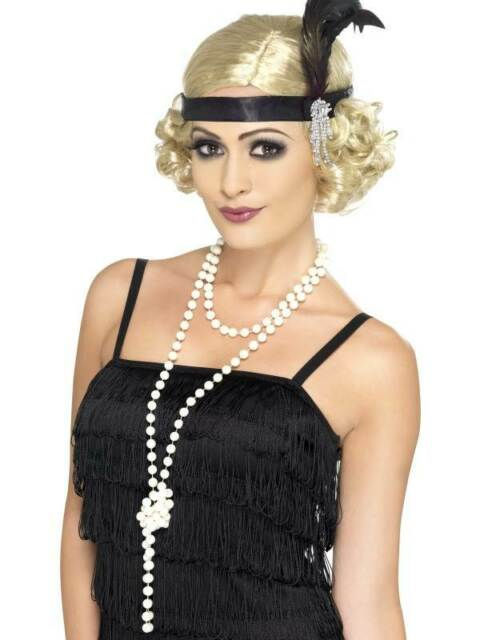 Pearl Necklace, One Size, 1920's Razzle Fancy Dress/Cosplay #CA