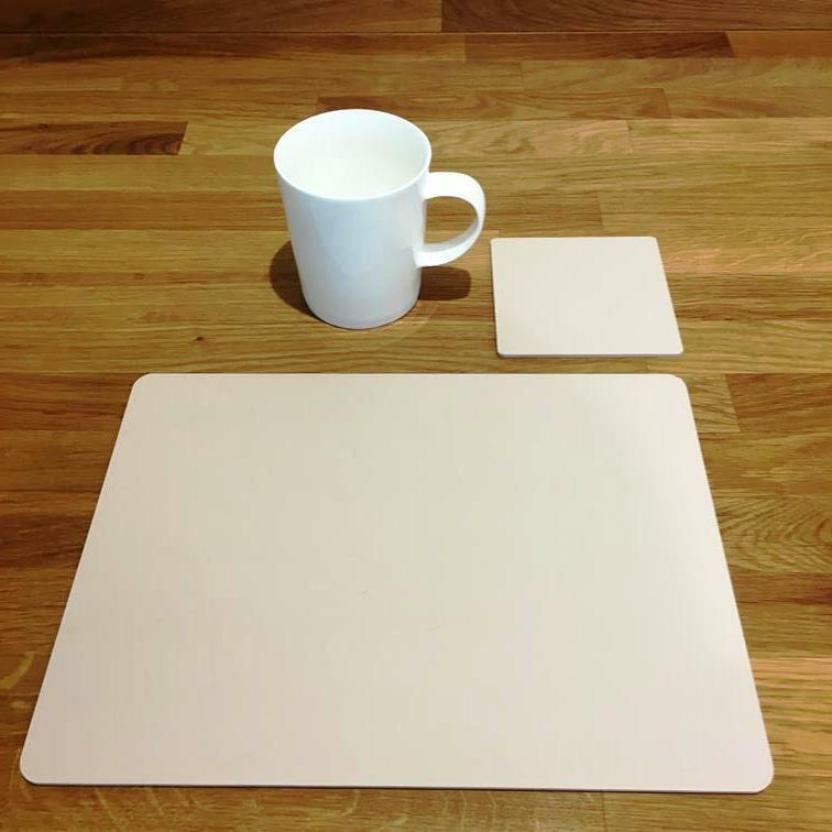 Rectangle Shaped Latte Beige Acrylic Placemats & Coasters - 11.5x8.5  or 16x12
