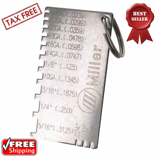 Miller electric 229895 gage wire metal sizes gauge thickness item 4 wire gauge thickness measuring tool sheet metal gage machinist measurement plate wire gauge thickness measuring tool sheet metal gage machinist keyboard keysfo Image collections
