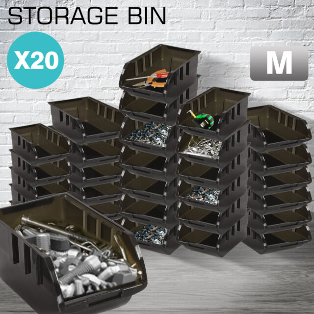 New 20PCS Quality 100% Recycled Plastic Parts Storage Bins Boxes
