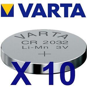 Lot-de-10-piles-CR2032-VARTA-Lithium-3-Volts-230-mah-neuves