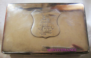 Boite En Argent - 1890 C.f. Llewellyn Family Crest - Silver Box Rhcxxhyw-10104541-570620799