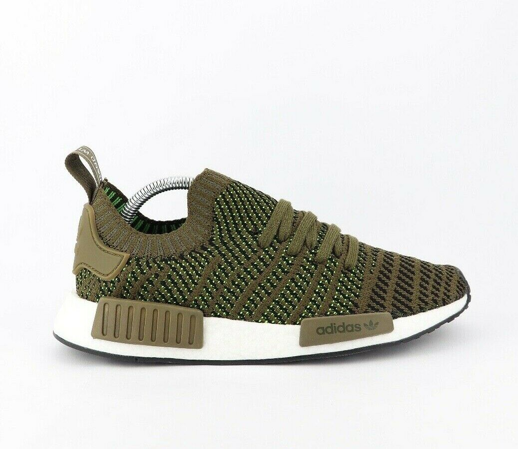 Men's Adidas NMD R1 STLT Prime Knit Olive CQ2389