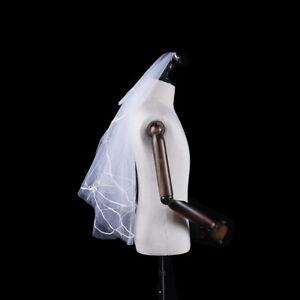 1-x-Women-150cm-white-one-layer-short-wedding-bridal-veils-JO