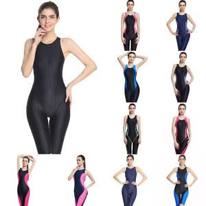 058b66b93b38e Full Brief Knee Women One Piece Swimsuit Sport Competition Swimwear ...