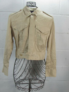 Ralph-Lauren-Collection-Purple-Label-Tan-Cropped-Jacket-Size-12-Made-in-USA
