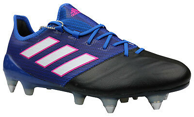 Adidas ACE 17.1 SG Fußballschuhe Leder Stollen weiß blau
