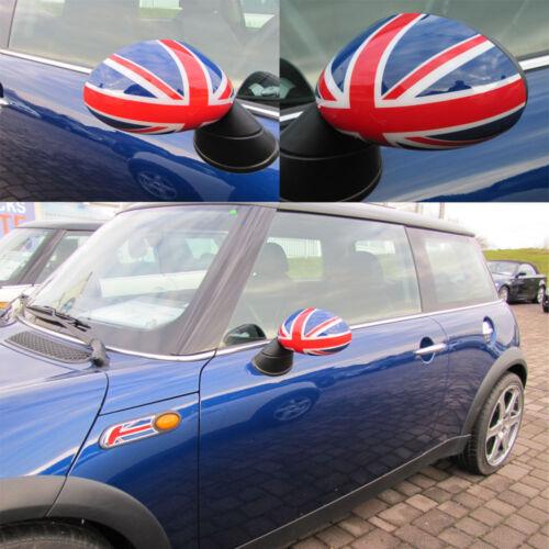 Miroir Bouchons Union Jack pour Mini One Cooper r50 r53 2001-11//2006r52-03//2009
