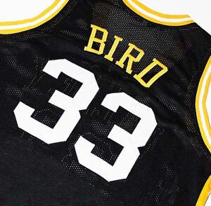 huge discount 03702 8d4cf LARRY BIRD VALLEY HIGH SCHOOL JERSEY Black NEW ANY SIZE | eBay