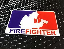 "Firefighter Sticker Domed Decal Emblem Car Sticker 3D 3.25""x 2"""