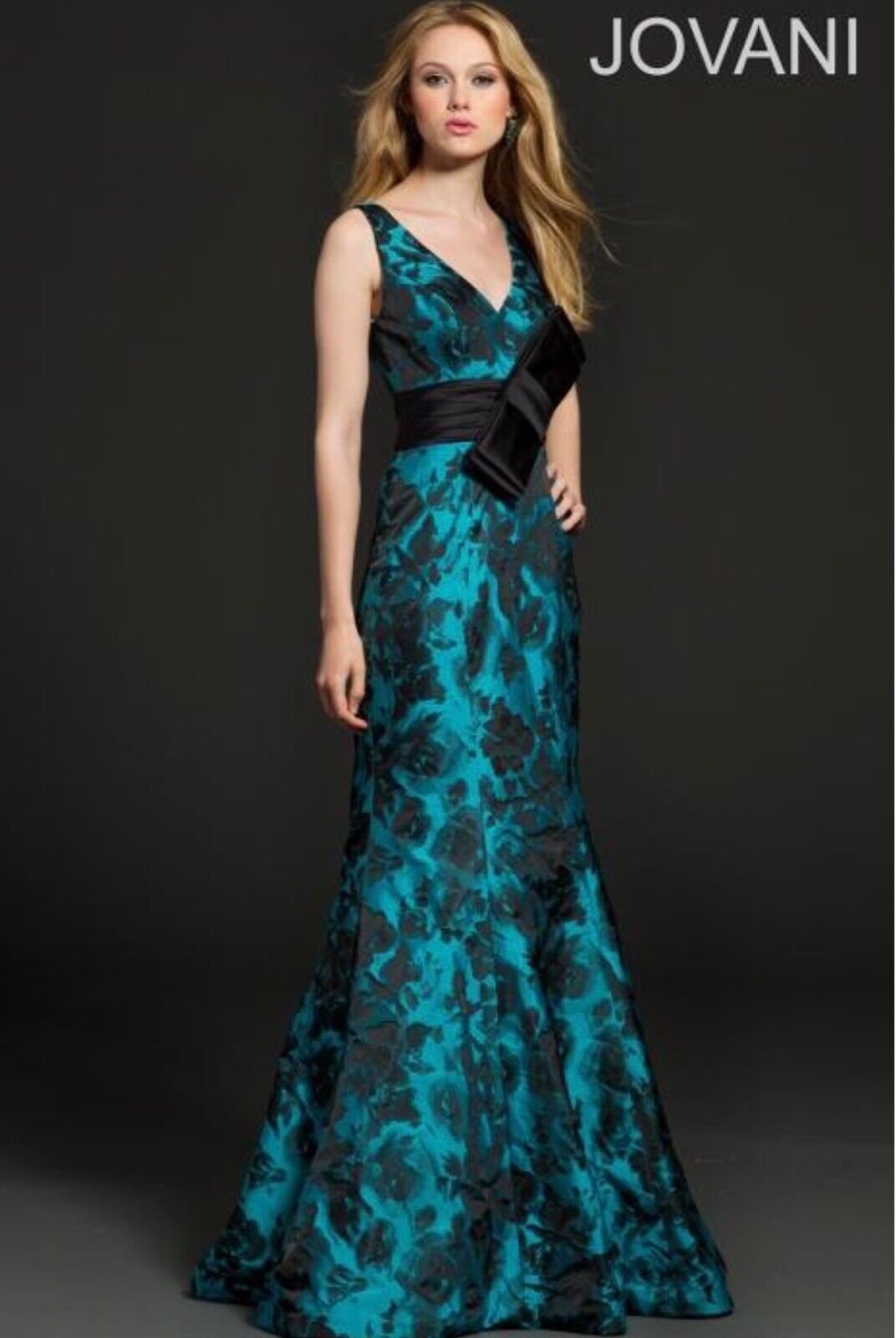 Jovani black/teal evening MOB gown style 99316 size 14