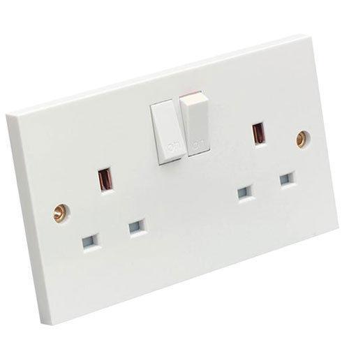 New13 amp double paroi socket 2 Gang électrique mur plug socket