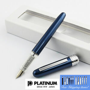Platinum-Plaisir-Fountain-pen-Fine-Nib-Blue-body-With-Box-PGB-1000-56-2-Japan