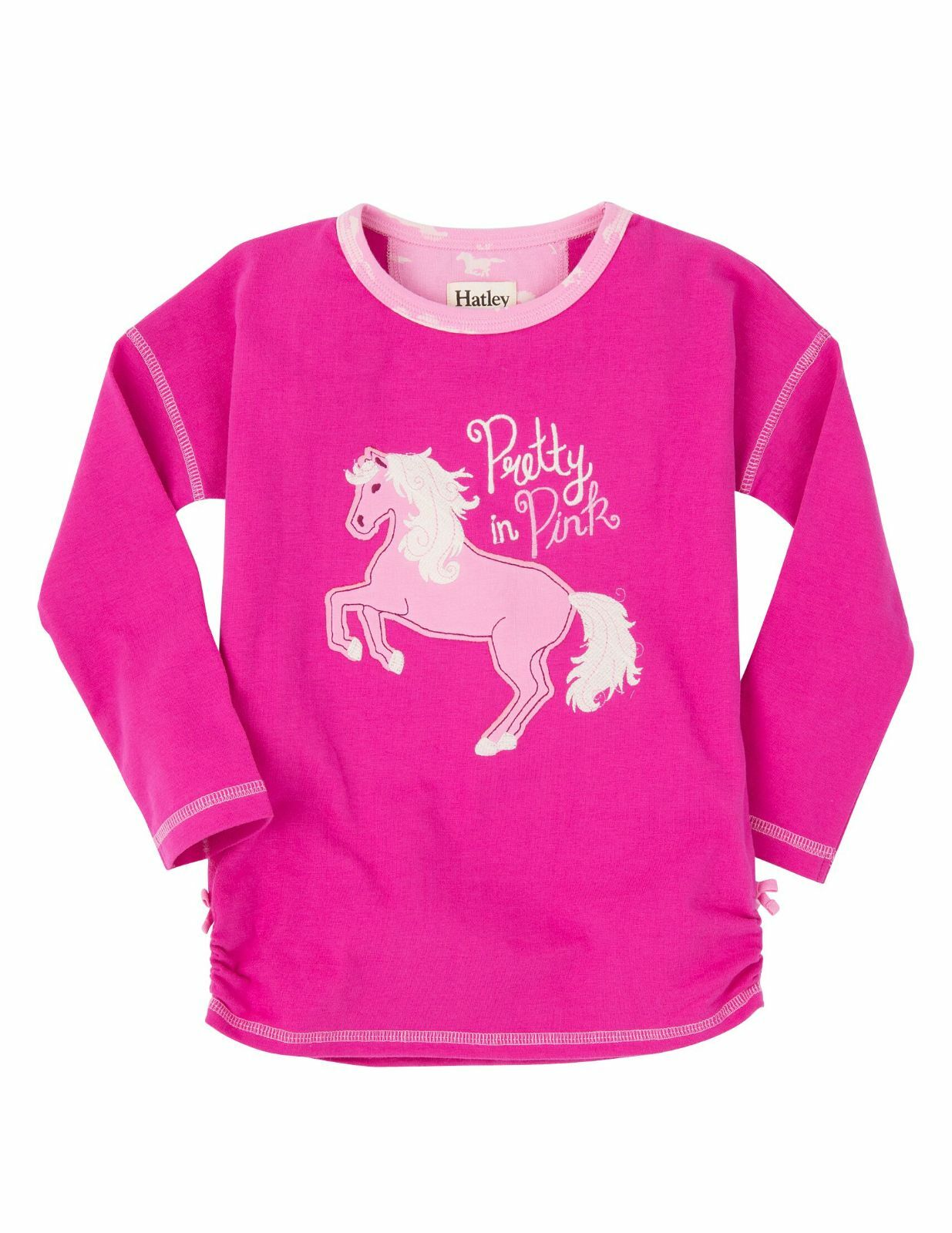 *BNWT* Hatley Girls Fairy Tale Horses Long Sleeved Top Pretty In Pink Pony