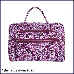 b64bf169a NWT Vera Bradley Iconic Grand Weekender Travel Bag in Lilac Paisley ...