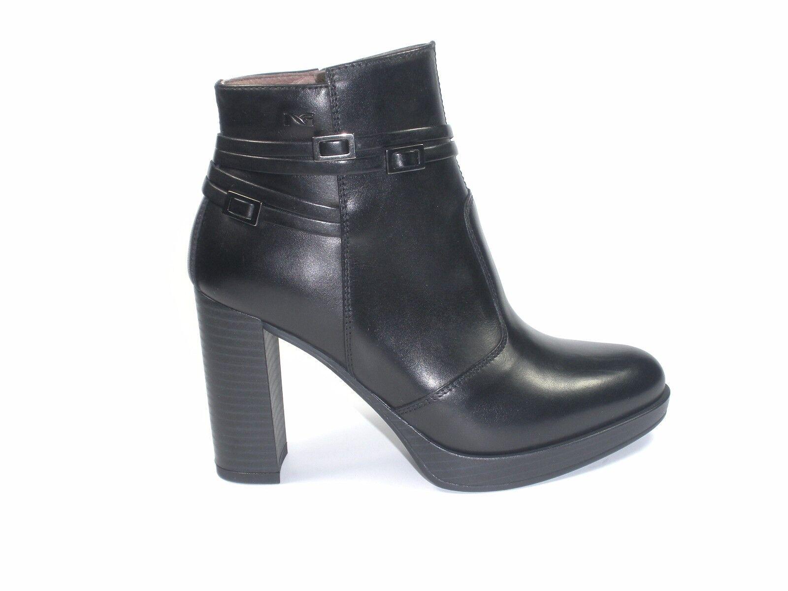 Zapatos NERO GIARDINI mujer  TRONCHETTI A719143D PELLE Zapatos NERO MADE IN ITALY Zapatos PELLE b11666