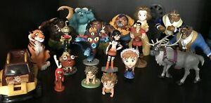 Disney-Figures-Mixed-Lot-of-19-Monsters-Inc-Frozen-Moana-Good-Dinosaur-Grinch