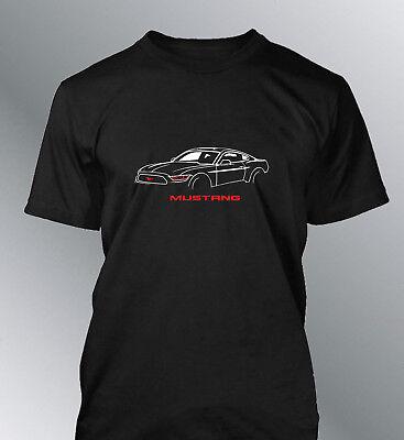 Shelby Cobra Logo Mustang AC Cars gt500 Muscle Cars Black T-Shirt S M L XL 2XL